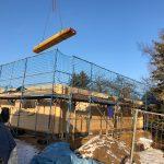 Blockhaus Baustelle
