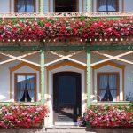 Balkon mit Blumen
